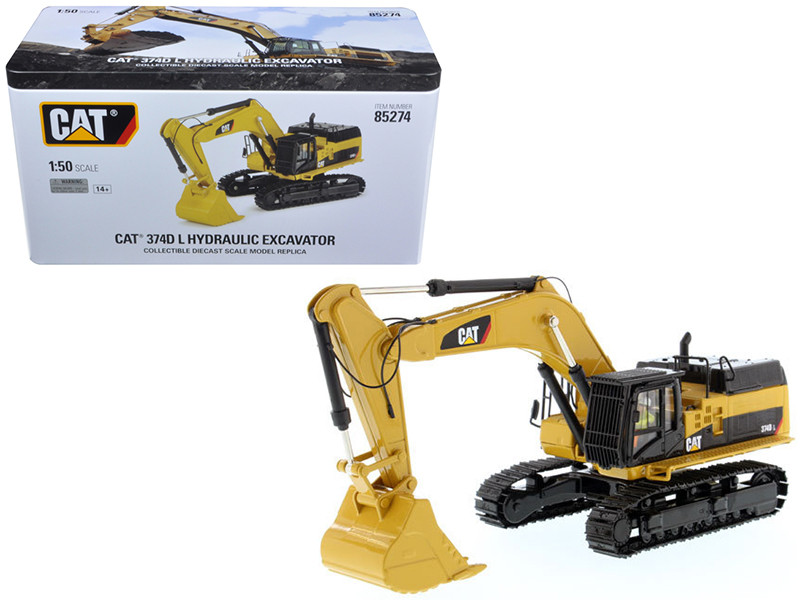 CAT Caterpillar 374D L Hydraulic Excavator with operator High Line Series 1/50 Diecast Model Diecast Masters 85274