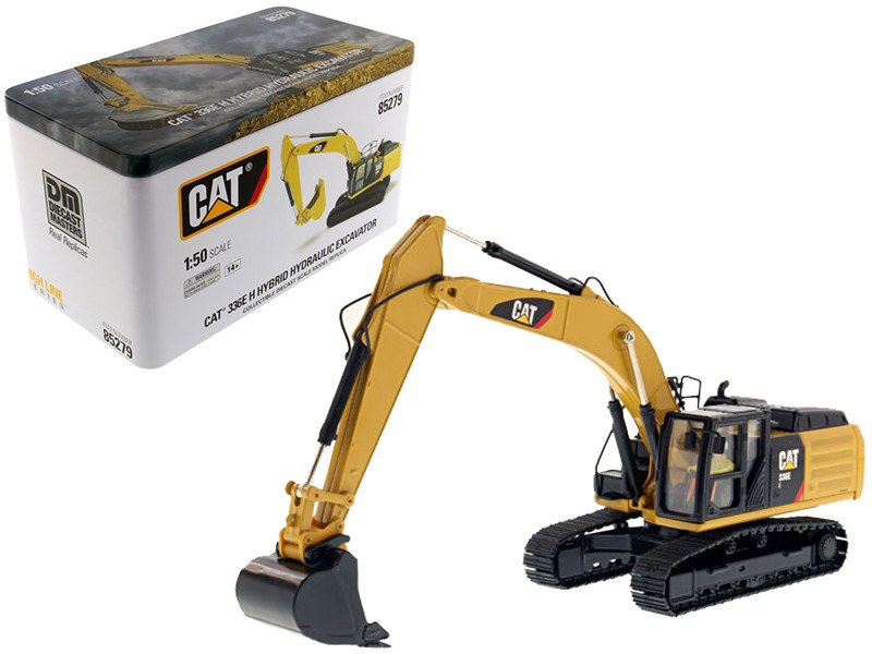 CAT Caterpillar 336E H Hybrid Hydraulic Excavator with Operator High Line Series 1/50 Diecast Model Diecast Masters 85279