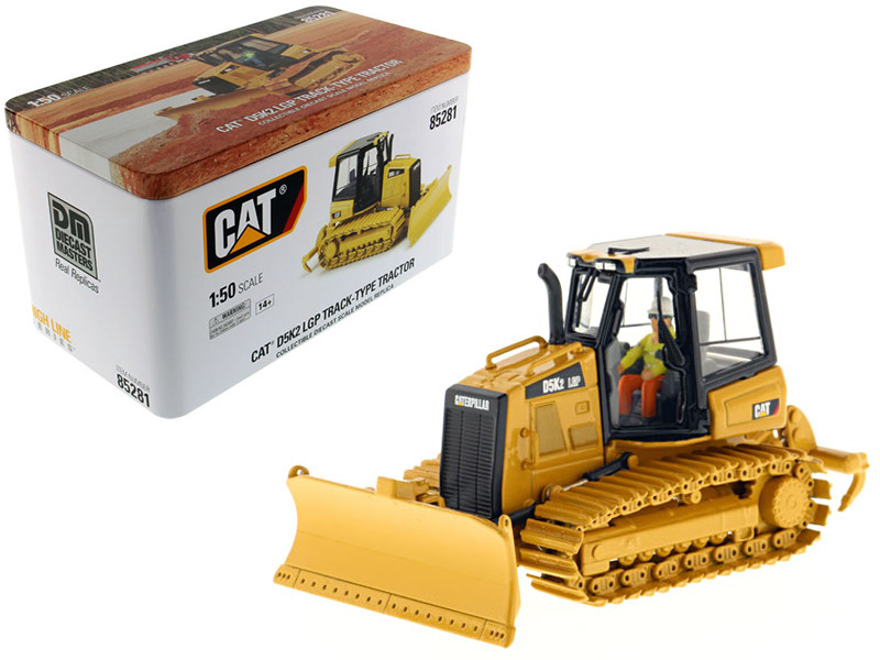 CAT Caterpillar D5K2 LGP Track Type Tractor Dozer with Ripper with Operator High Line Series 1/50 Diecast Model Diecast Masters 85281
