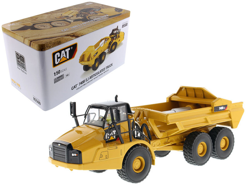 CAT Caterpillar 740B EJ Articulated Truck with Operator High Line Series 1/50 Diecast Model Diecast Masters 85500
