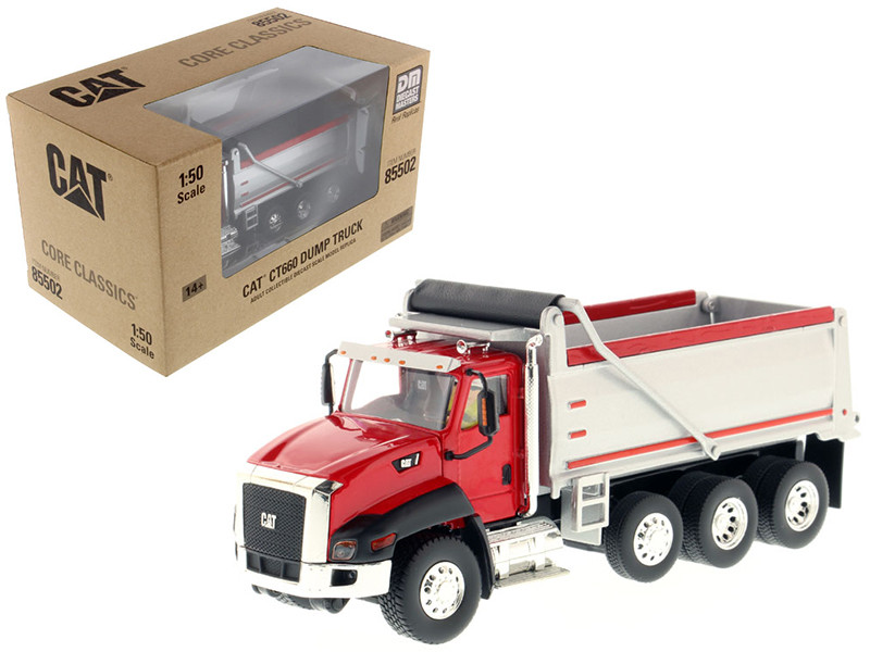 CAT Caterpillar CT660 Dump Truck Red Core Classics Series 1/50 Diecast Model Diecast Masters 85502