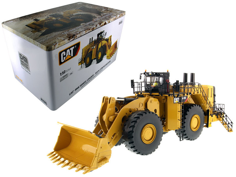 CAT Caterpillar 994K Wheel Loader with Rock Bucket and Operator High Line Series 1/50 Diecast Model Diecast Masters 85505