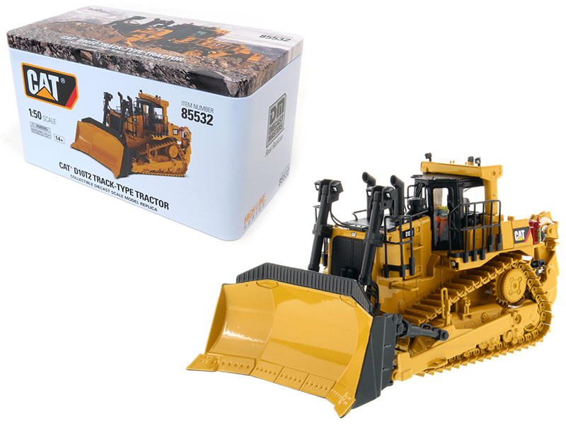 CAT Caterpillar D10T2 Track Type Tractor Dozer with Operator High Line Series 1/50 Diecast Model Diecast Masters 85532