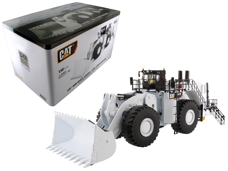 CAT Caterpillar 994K Wheel Loader with Coal Bucket in White with Operator High Line Series 1/50 Diecast Model Diecast Masters 85533