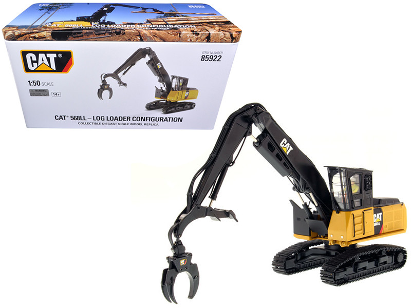 CAT Caterpillar 568 LL Log Loader with Operator High Line Series 1/50 Diecast Model Diecast Masters 85922