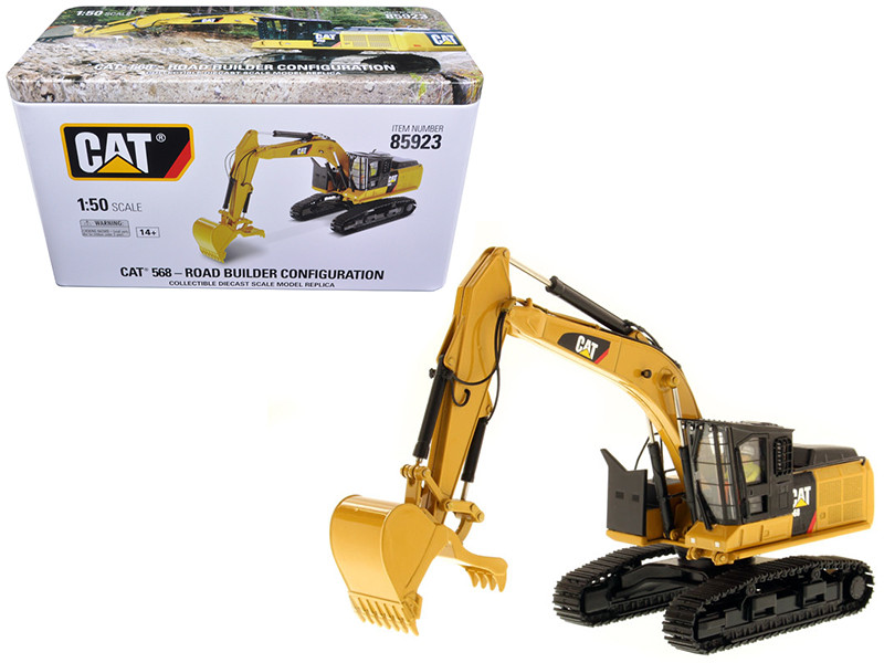 CAT Caterpillar 568 GF Road Builder with Operator High Line Series 1/50 Diecast Model Diecast Masters 85923
