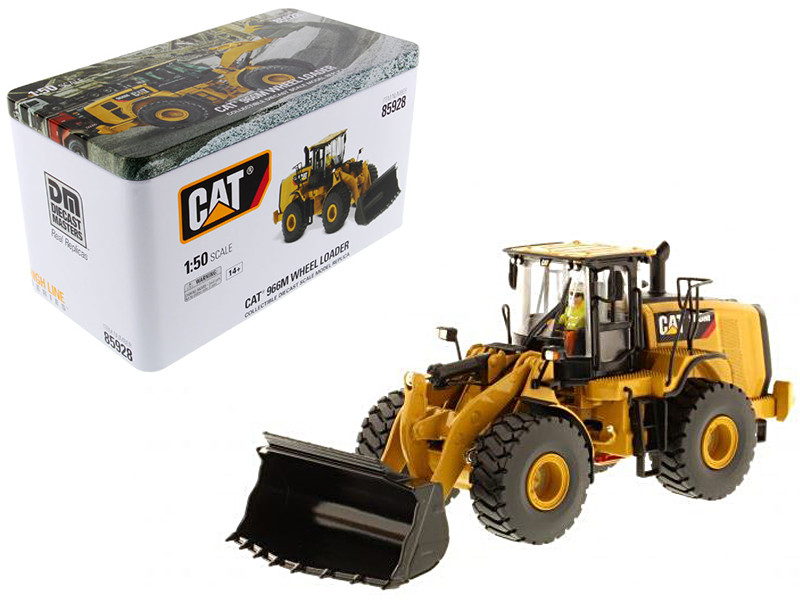 CAT Caterpillar 966M Wheel Loader with Operator High Line Series 1/50 Diecast Model Diecast Masters 85928