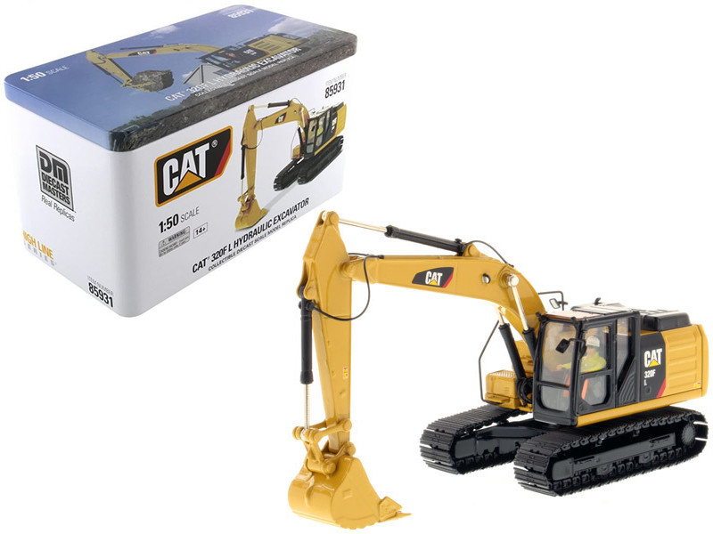 CAT Caterpillar 320F L Hydraulic Excavator with Operator High Line Series 1/50 Diecast Model Diecast Masters 85931
