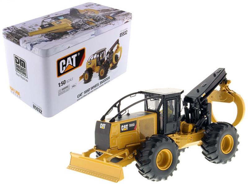 CAT Caterpillar 555D Wheel Skidder with Operator High Line Series 1/50 Diecast Model Diecast Masters 85932