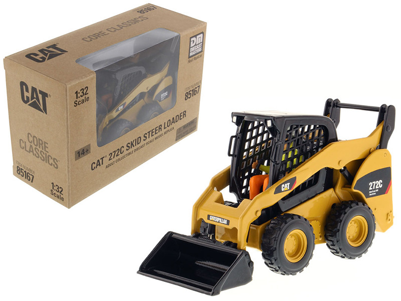 CAT Caterpillar 272C Skid Steer Loader With Working Tools and Operator Core Classic Series 1/32 Diecast Model Diecast Masters 85167