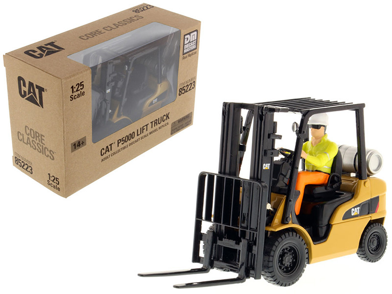CAT Caterpillar P5000 Lift Truck with Operator 1/25 Diecast Model Diecast Masters 85223