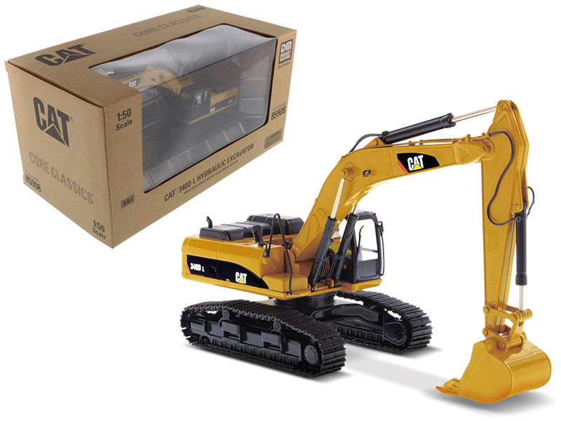 CAT Caterpillar 340D L Hydraulic Excavator with Operator Core Classics Series 1/50 Diecast Model Diecast Masters 85908