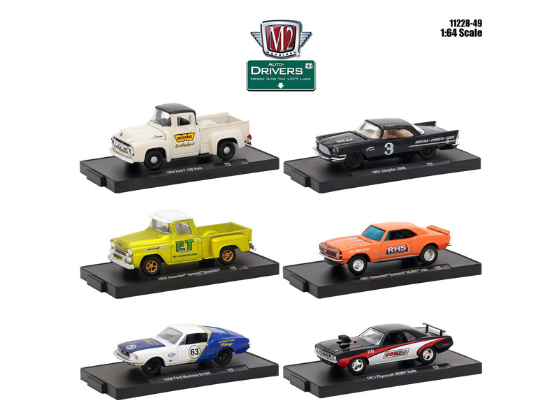 Drivers 6 Cars Set Release 49 In Blister Packs 1/64 Diecast Model Cars M2 Machines 11228-49