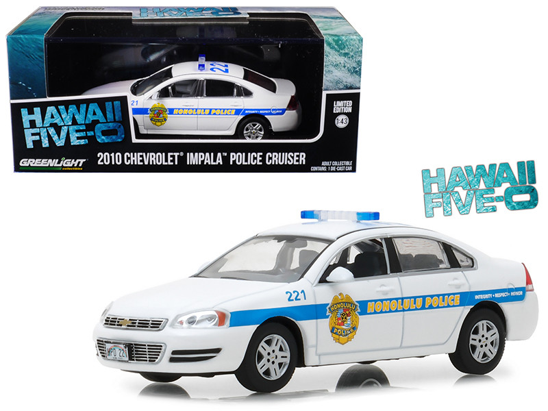 2010 Chevrolet Impala Honolulu Police Cruiser from Hawaii Five-0 2010-Current TV Series 1/43 Diecast Model Car Greenlight 86518