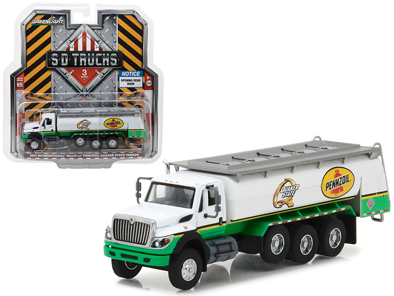 2017 International Workstar Tanker Truck Pennzoil Quaker State S.D. Trucks Series 3 1/64 Diecast Model Greenlight 45030 C