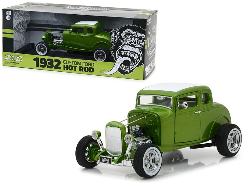 1932 Ford Custom Hot Rod Green Gas Monkey Garage 2012 TV Series 1/18 Diecast Car Model Greenlight 12974