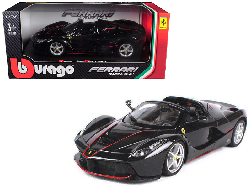 Ferrari LaFerrari F70 Aperta Black 1/24 Diecast Model Car Bburago 26022