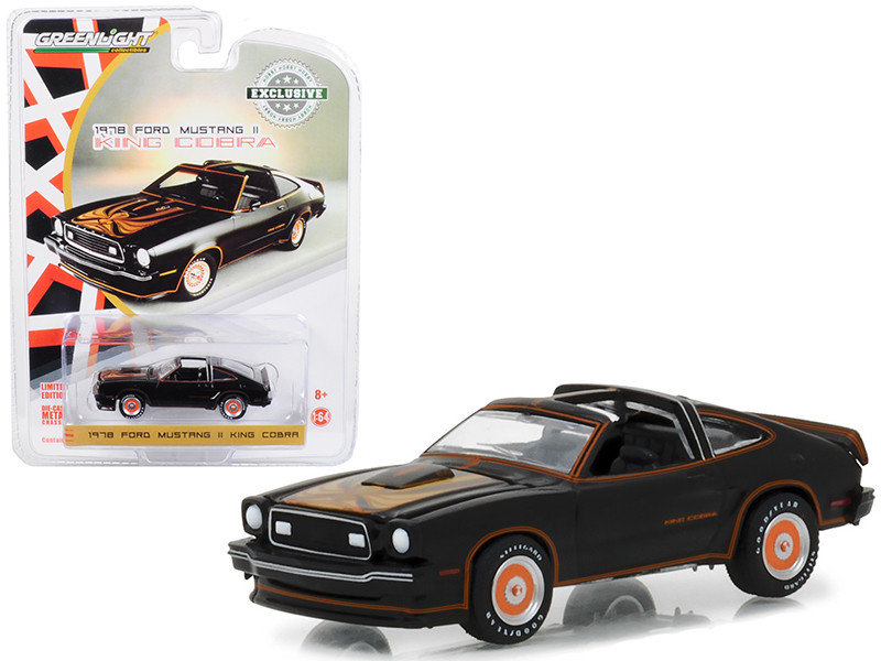 1978 Ford Mustang II King Cobra Black and Gold Hobby Exclusive 1/64 Diecast Model Car Greenlight 29937
