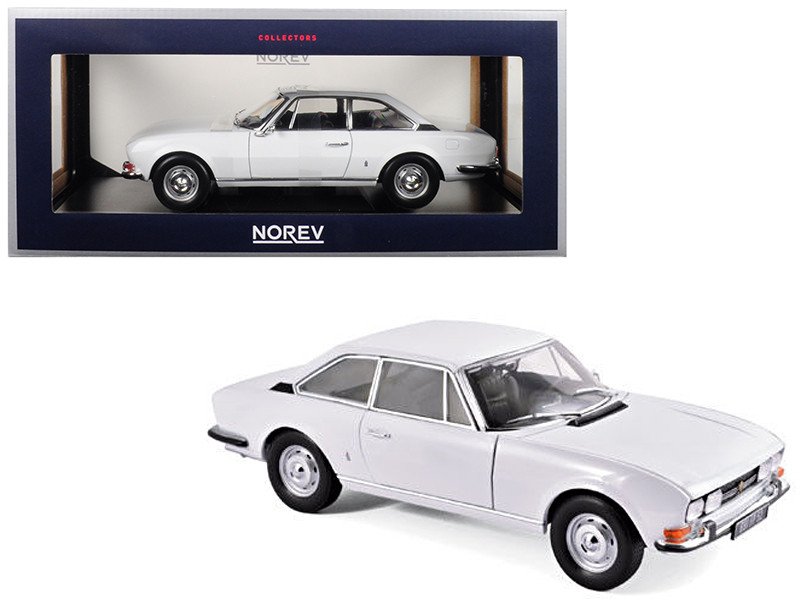 1969 Peugeot 504 Coupe Arosa White 1/18 Diecast Model Car Norev 184825