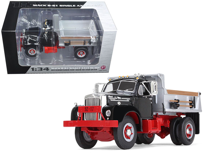 diecast model cars wholesale toys dropshipper drop shipping mack b U Model Mack Dump Truck mack b 61 single axle dump truck black and silver 1 34 diecast
