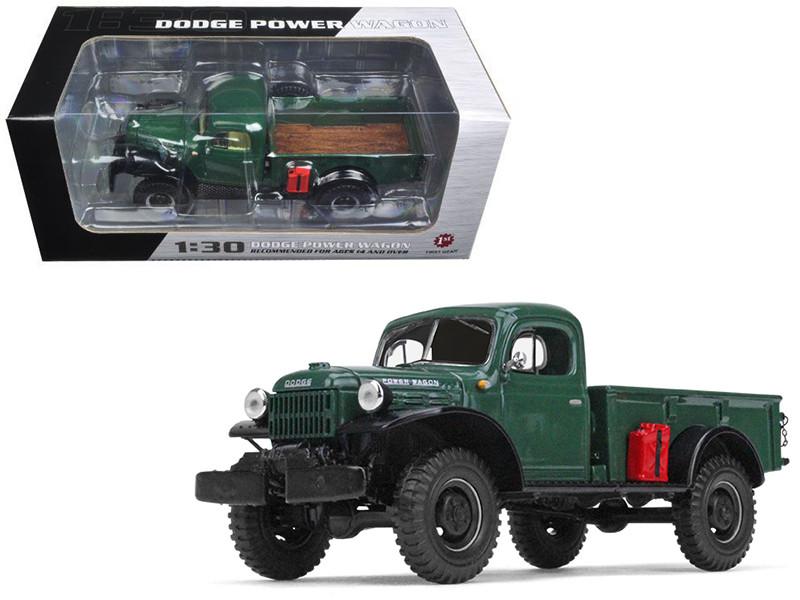 1949 Dodge Power Wagon Express Pickup Dark Green 1/30 Diecast Model Car First Gear 19-4090