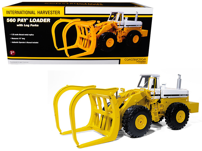 International 560 Pay Loader Logger Harvester 1/25 Diecast Model First Gear 40-0121