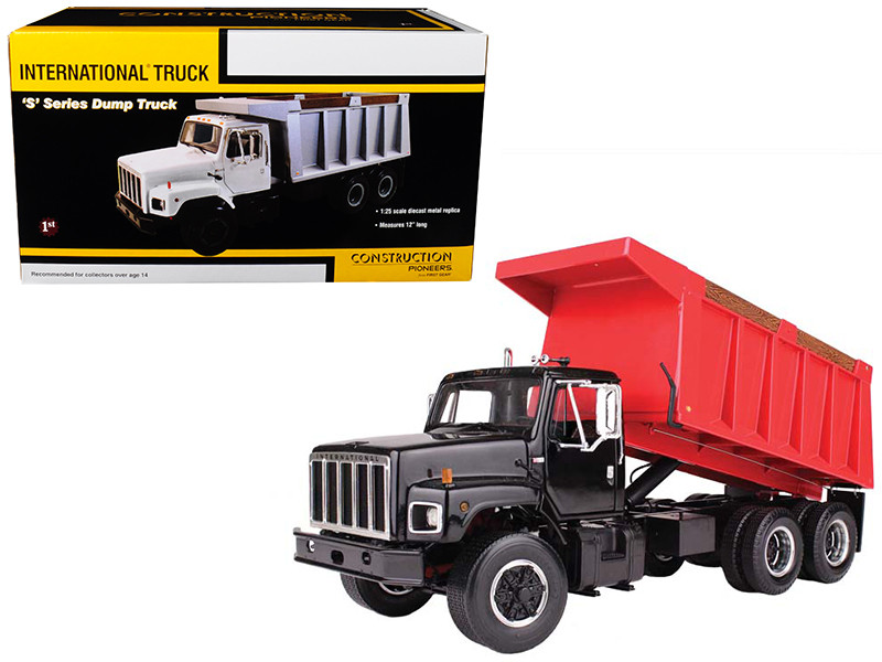 International S Series Dump Truck Black 1/25 Diecast Model First Gear 40-0199 B