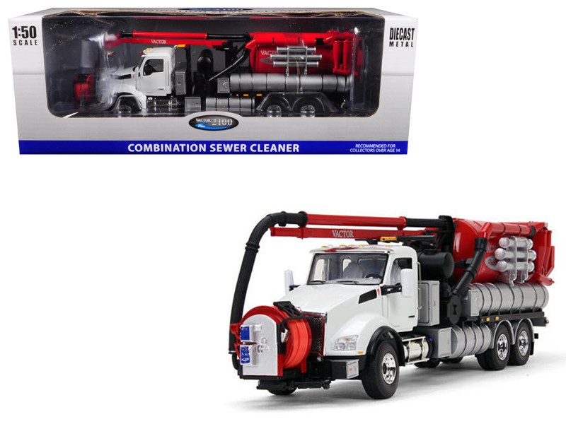 Kenworth T880 with Vactor 2100 Plus PD Combination Sewer Cleaner 1/50 Diecast Model First Gear 50-3263 WR