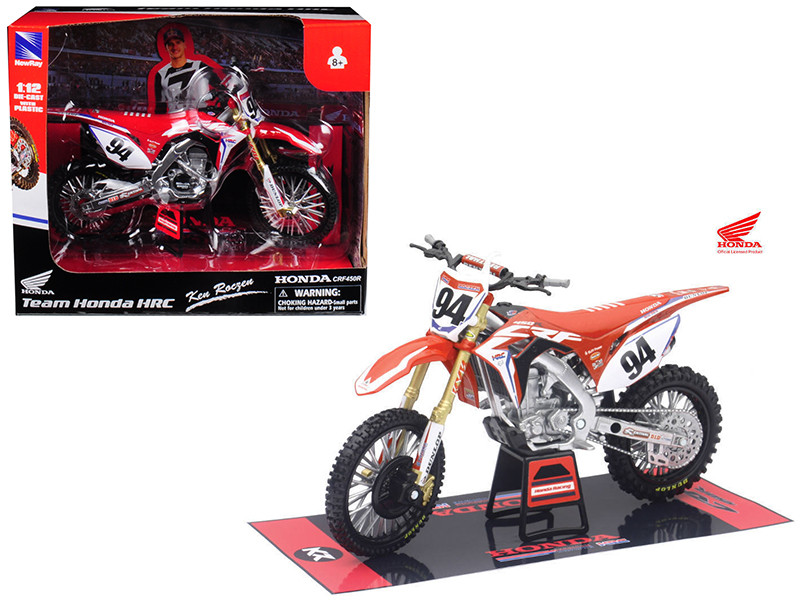 Honda Racing Team CRF450R Ken Roczen #94 Motorcycle Model 1/12 New Ray 57923