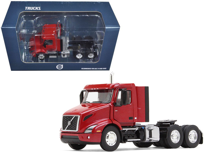 Volvo VNR 300 Day Cab Cherry Bomb Red Metallic 1/50 Diecast Model Car First Gear 50-3365