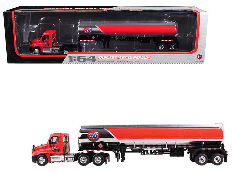 Freightliner Cascadia with 42' 76 Fuel Tanker 1/64 Diecast Model First Gear 60-0279