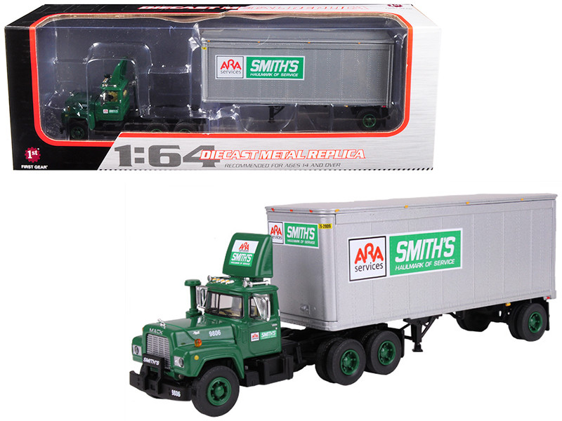 Mack R Model ARA Smith's Transfer With 28' Pop Trailer 1/64 Diecast Model First Gear 60-0288