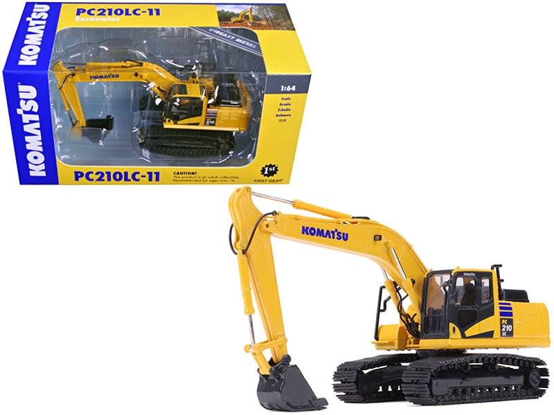 Komatsu PC210LC-11 Excavator 1/64 Diecast Model Car First Gear 60-0326
