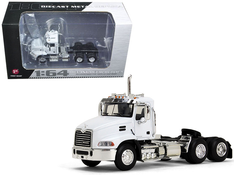 Mack Pinnacle Day Cab White 1/64 Diecast Model First Gear 60-0348