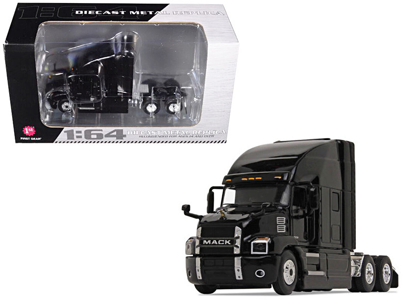 Mack Anthem Sleeper Cab Black 1/64 Diecast Model First Gear 60-0362
