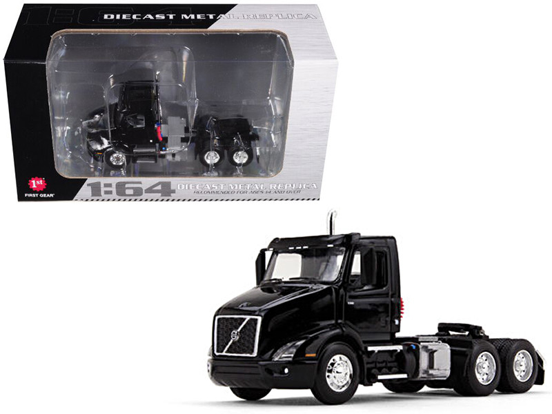 Volvo VNR 300 Day Cab Black 1/64 Diecast Model First Gear 60-0369