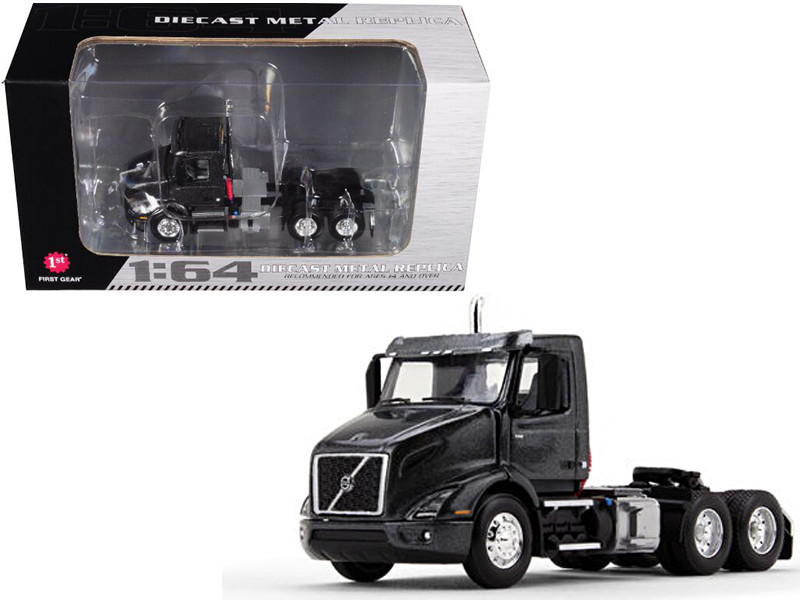 Volvo VNR 300 Day Cab Stormy Gray Metallic 1/64 Diecast Model First Gear 60-0370