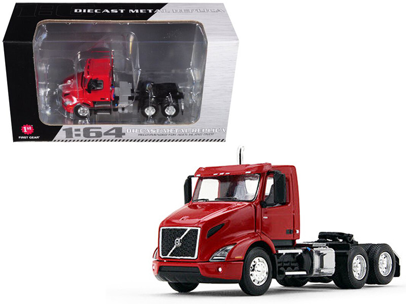 Volvo VNR 300 Day Cab Sun Red 1/64 Diecast Model First Gear 60-0371