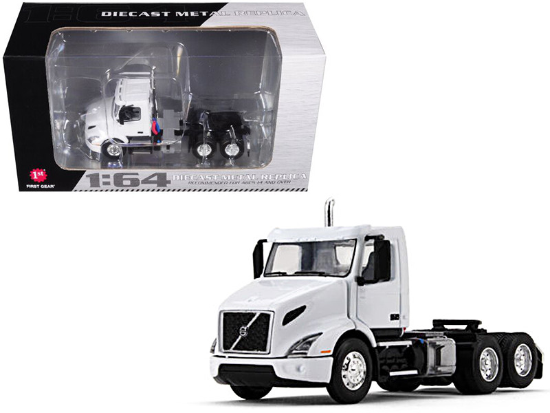 Volvo VNR 300 Day Cab White 1/64 Diecast Model First Gear 60-0372