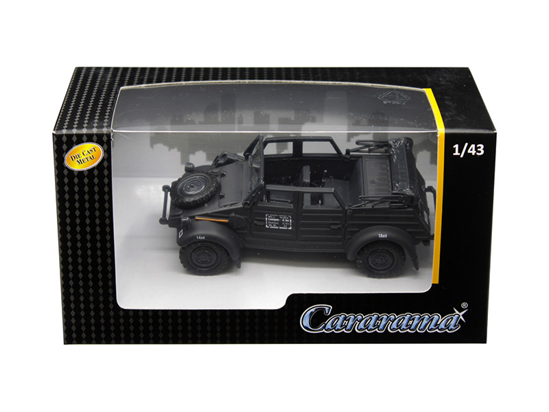 Volkswagen Kubelwagen Convertible K Type 82 Black 1/43 Diecast Model Car Cararama 4-90650