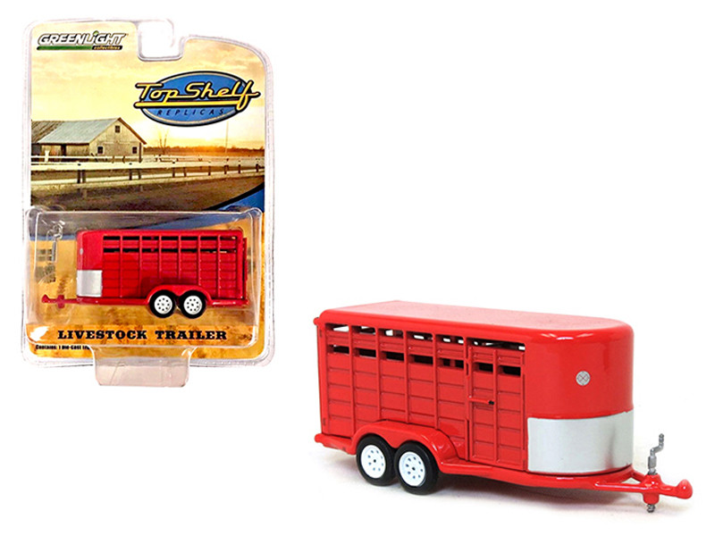 Livestock Trailer Gray Top Shelf Replicas Series 1/64 Diecast Model Greenlight 51100