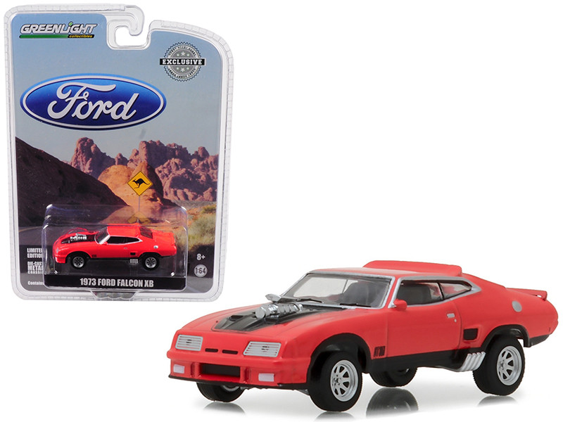 1973 Ford Falcon XB Red Pepper with Black Stripes Hobby Exclusive 1/64 Diecast Car Model Greenlight 29946