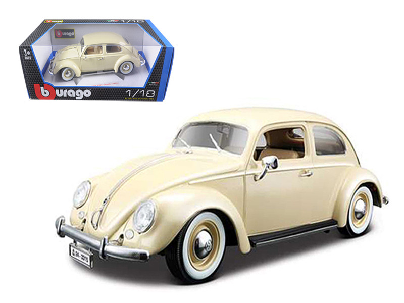 1955 Volkswagen Beetle Kafer Beige 1/18 Diecast Car Model Bburago 12029