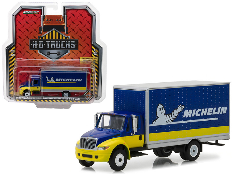 2013 International Durastar Michelin Tires Box Van HD Trucks Series 12 1/64 Diecast Model Greenlight 33120 C