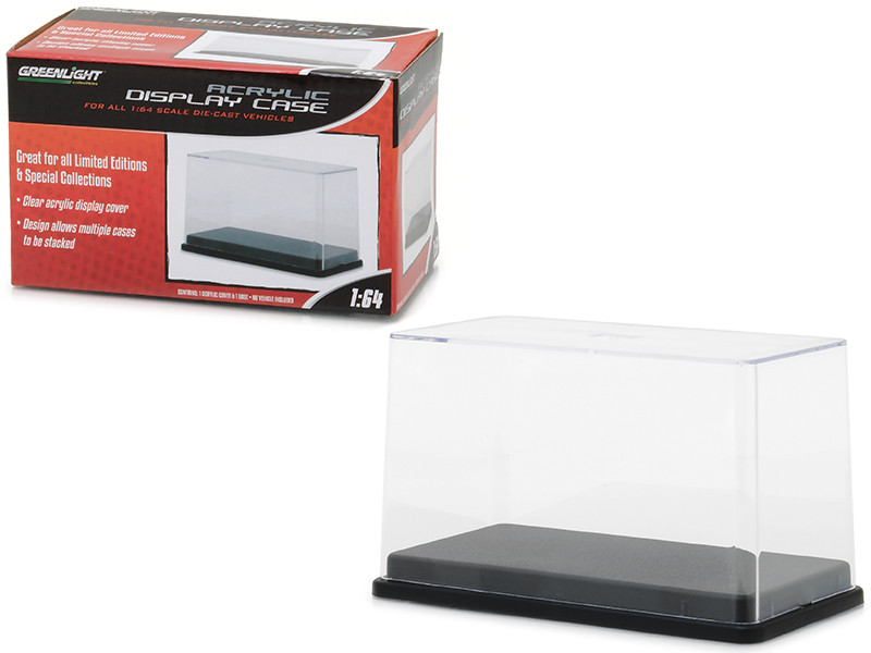 Acrylic Display Show Case with Plastic Base for 1/64 Scale Model Cars Greenlight 55025