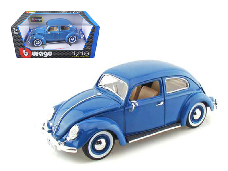 1955 Volkswagen Beetle Kafer Blue 1/18 Diecast Model Car by Bburago