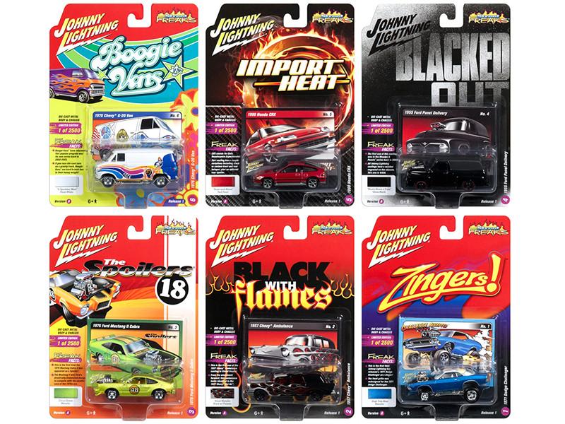 Street Freaks 2018 Release 1 Set A of 6 Cars 1/64 Diecast Models Johnny Lightning JLSF007 A