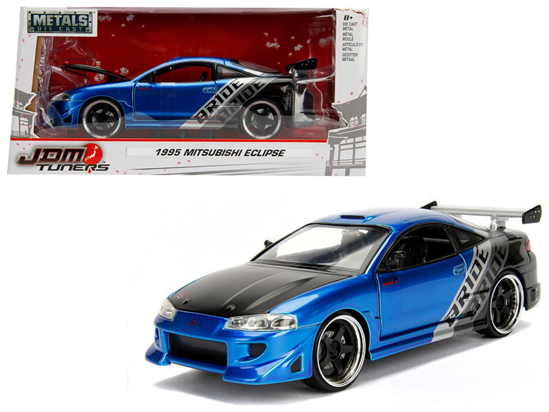 1995 Mitsubishi Eclipse Bride Blue JDM Tuners 1/24 Diecast Model Car Jada 99103