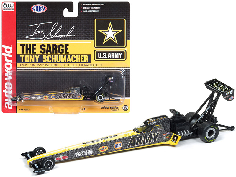 2017 NHRA Tony Schumacher US Army TFD 1/64 Diecast Model Car Autoworld AWSP005