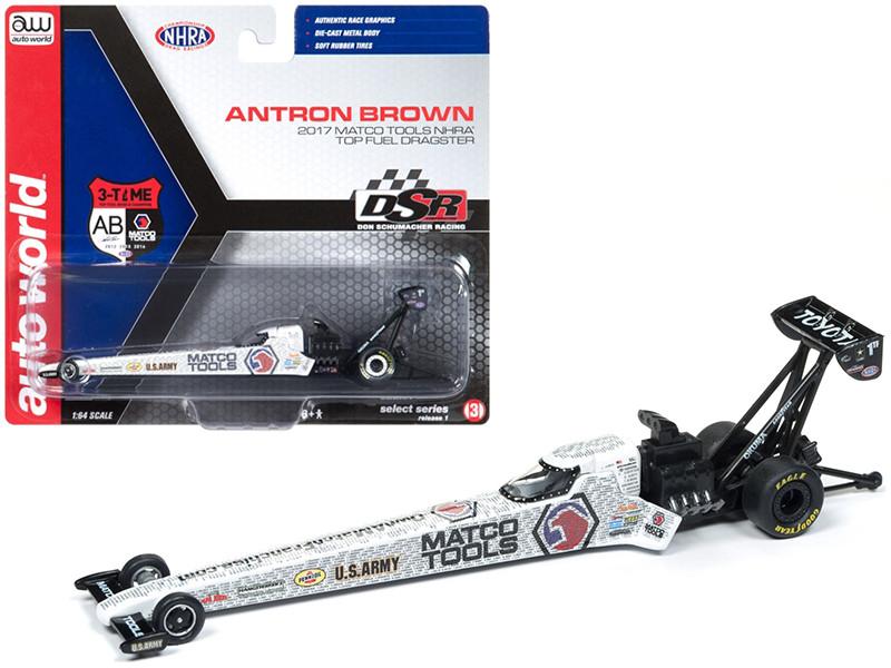 2017 NHRA Antron Brown Matco Tools TFD 1/64 Diecast Model Car Autoworld AWSP006